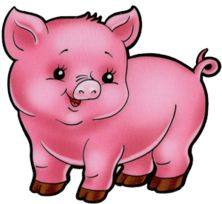 Pig clip art baby pig. Happy piggy animal piglets