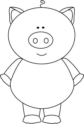 Image . Pig clip art black and white vector freeuse library