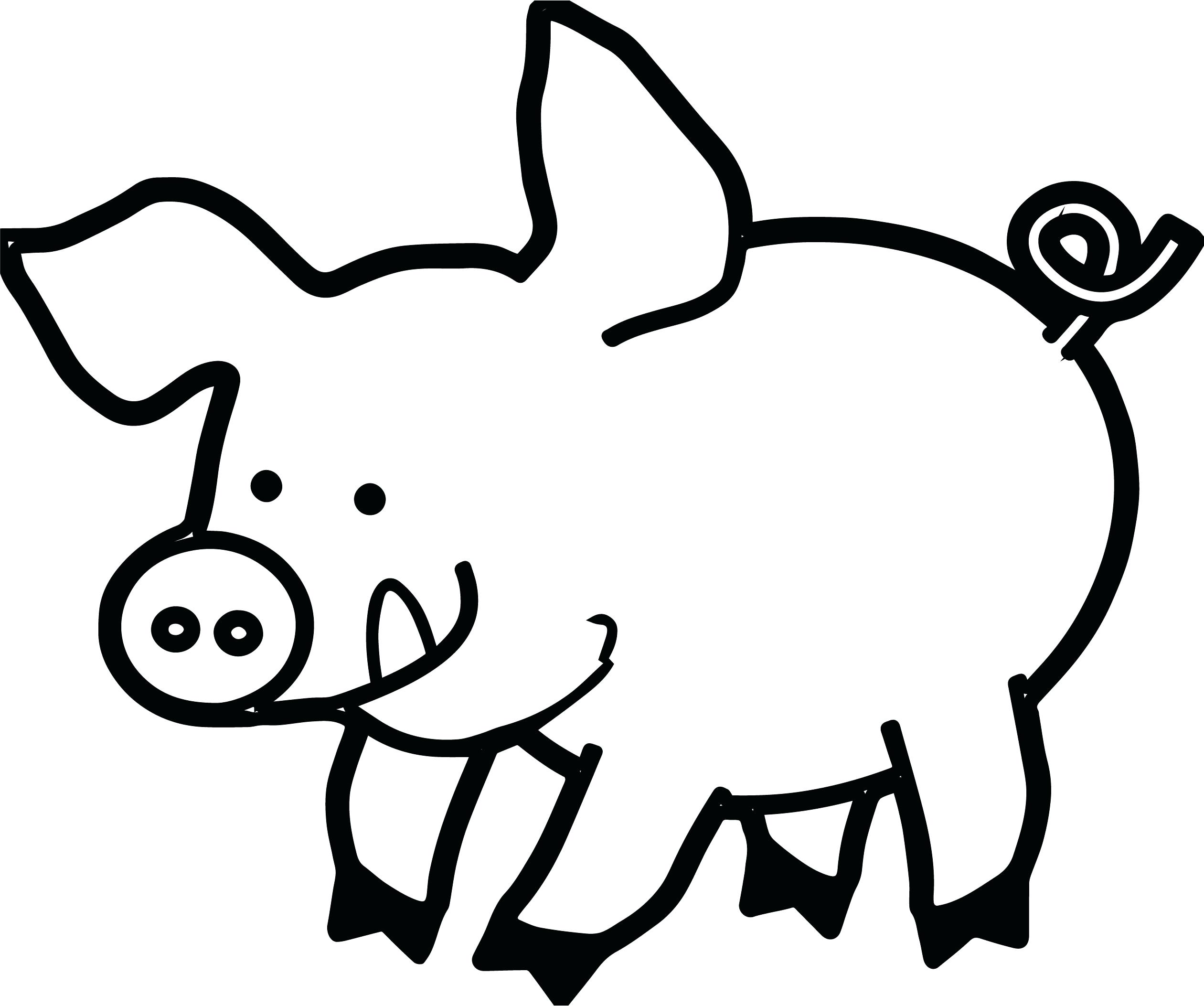 Pig clip art black and white. Face drawing at getdrawings