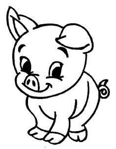 Cute pinterest template google. Pig clip art black and white stock