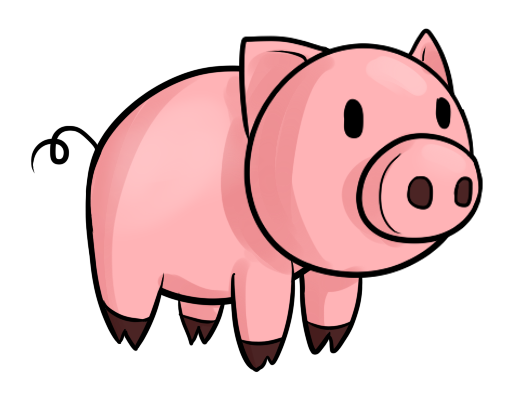 Pig clip art cartoon. Animated clipart