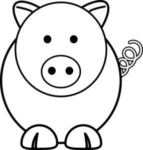 Pig clip art cartoon. At clker com vector