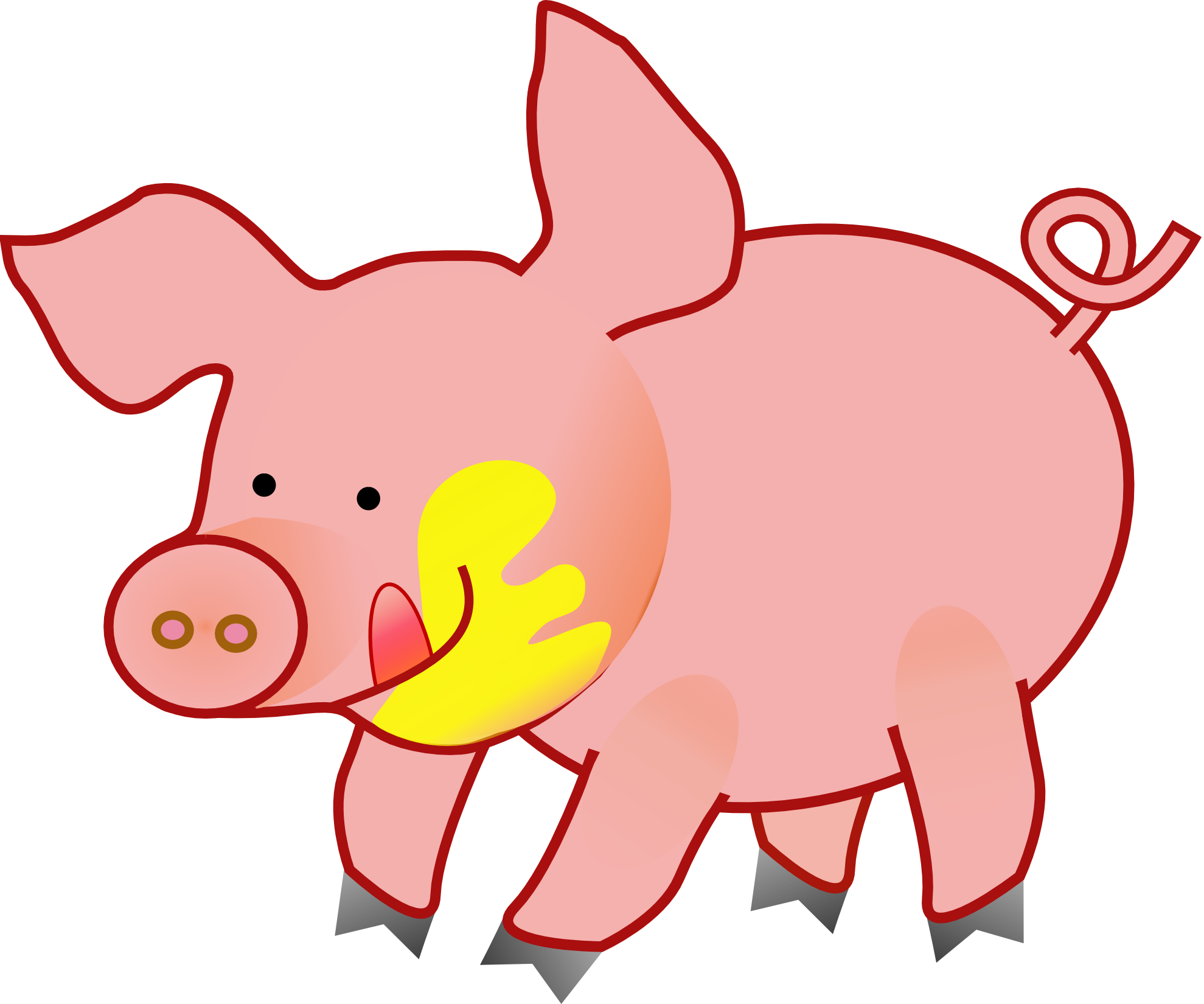 Pork drawing duroc pig