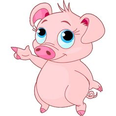 Pig clip art cartoon. Animated free cute shady