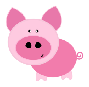 Pig clip art cute. Young americans center domestic