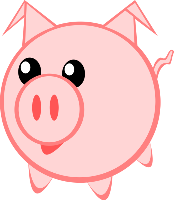 Pig clip art cute. Face clipart free to