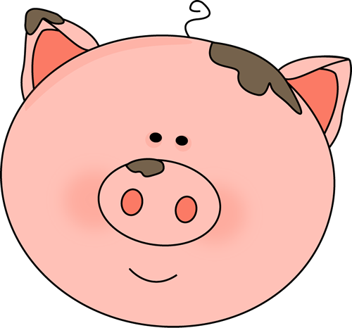 Pig clip art cute. Images face with mud