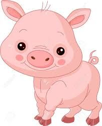 Pig clip art cute. Animated free cartoon shady