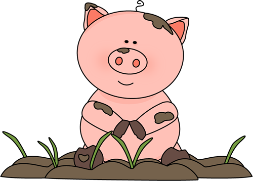 Pig clip art cute. Images in the mud