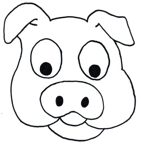 Pig clip art easy. Simple drawing of a