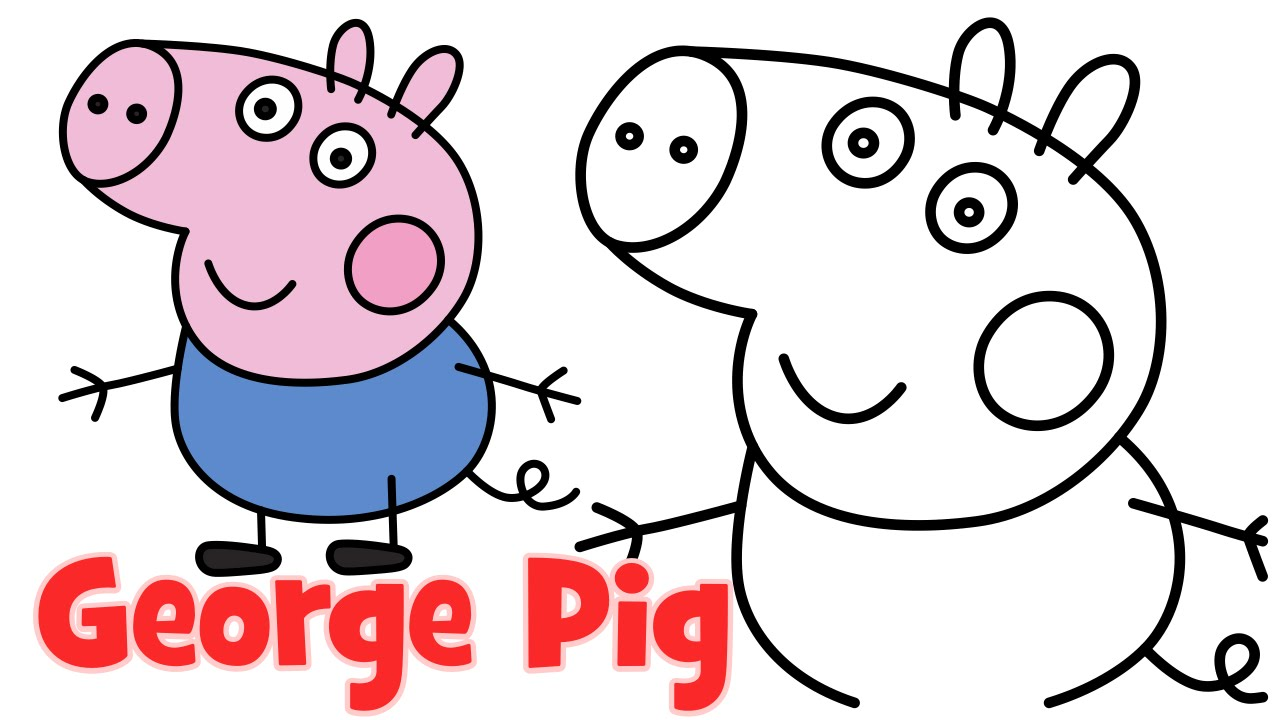 Pig clip art easy. How to draw peppa