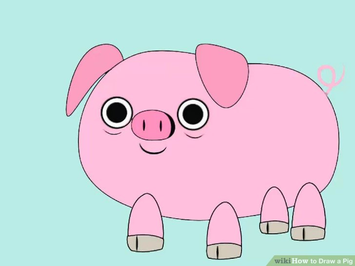 Pig clip art easy. How to draw a