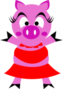 Pig clip art female pig. Woman at clker com