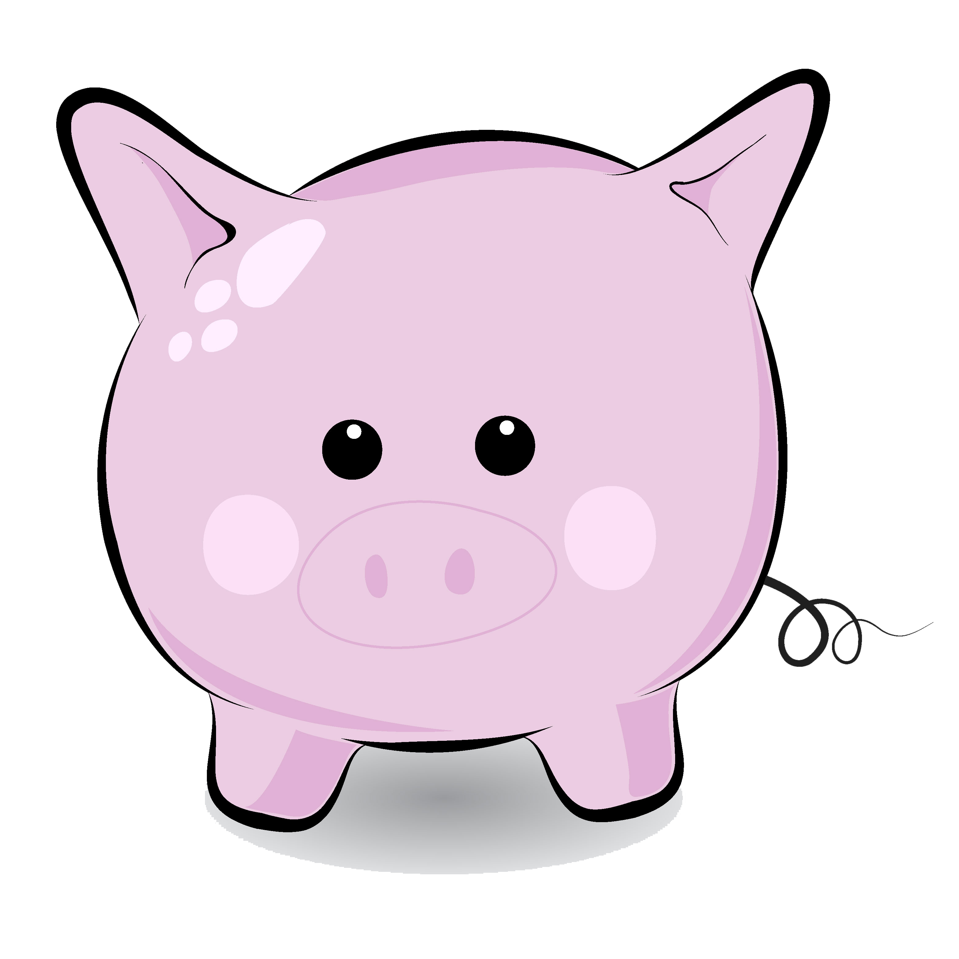 Pig clip art flying pig. Free cute cliparts download