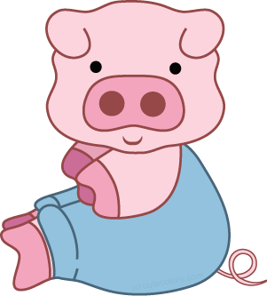 Pig clip art flying pig. Free clipart from www