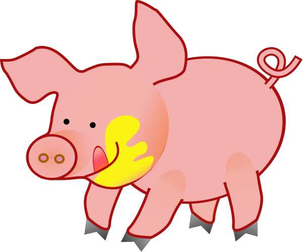 Mud clipart farm pig. Free flying cliparts download