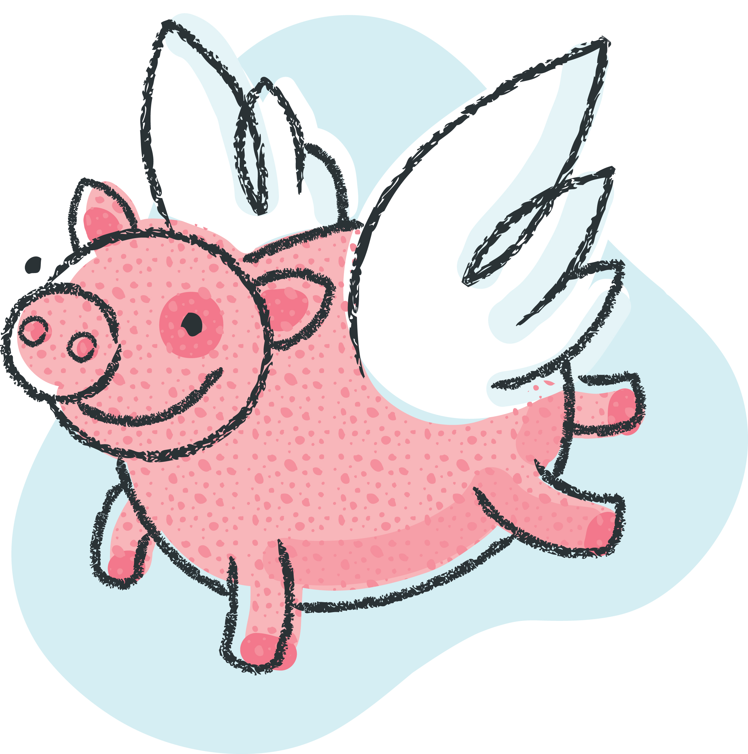 Pig clip art flying pig. Clipart panda free images