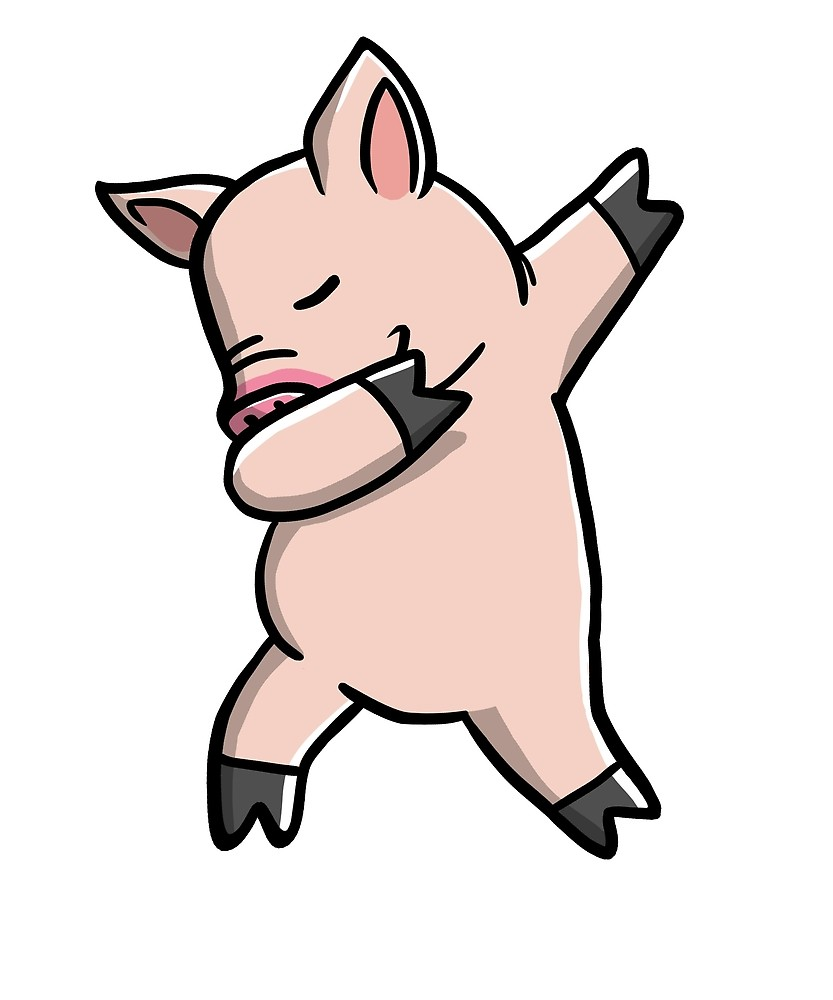 Pig clip art mini pig. Funny dabbing by ilovepaws