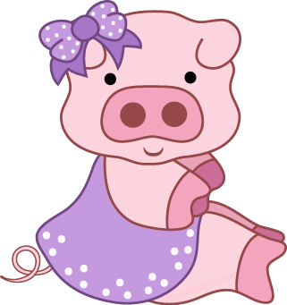 Pig clip art pet pig. Free clipart from www