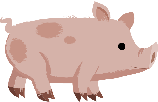 Pig clip art piglet. Cute spotted at clker