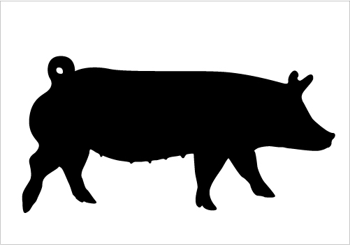 Show at getdrawings com. Pig clip art silhouette clipart freeuse stock