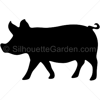 Pig clip art silhouette clipart free library
