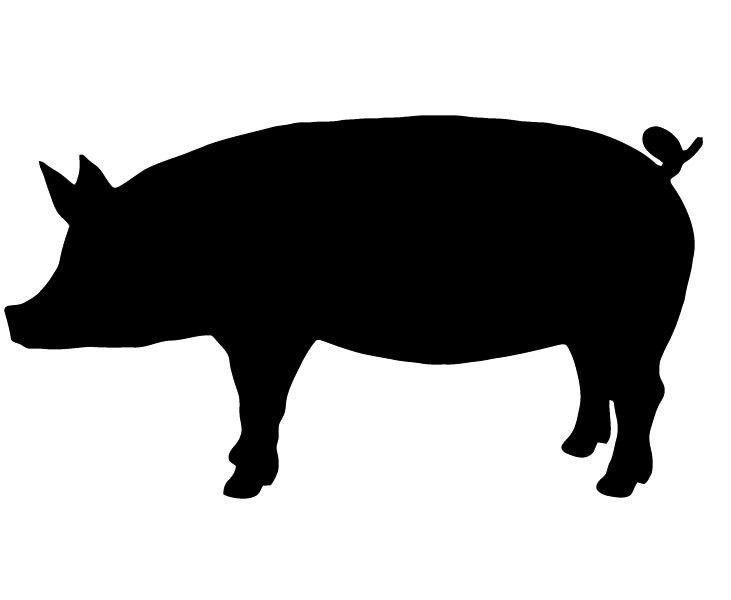 Show clipart best photo. Pig clip art silhouette library