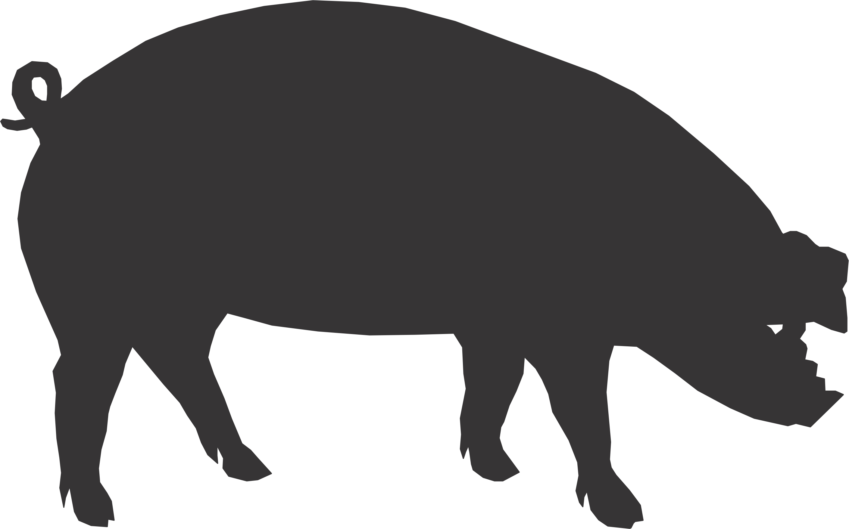 Pig clip art silhouette. Roasted clipart