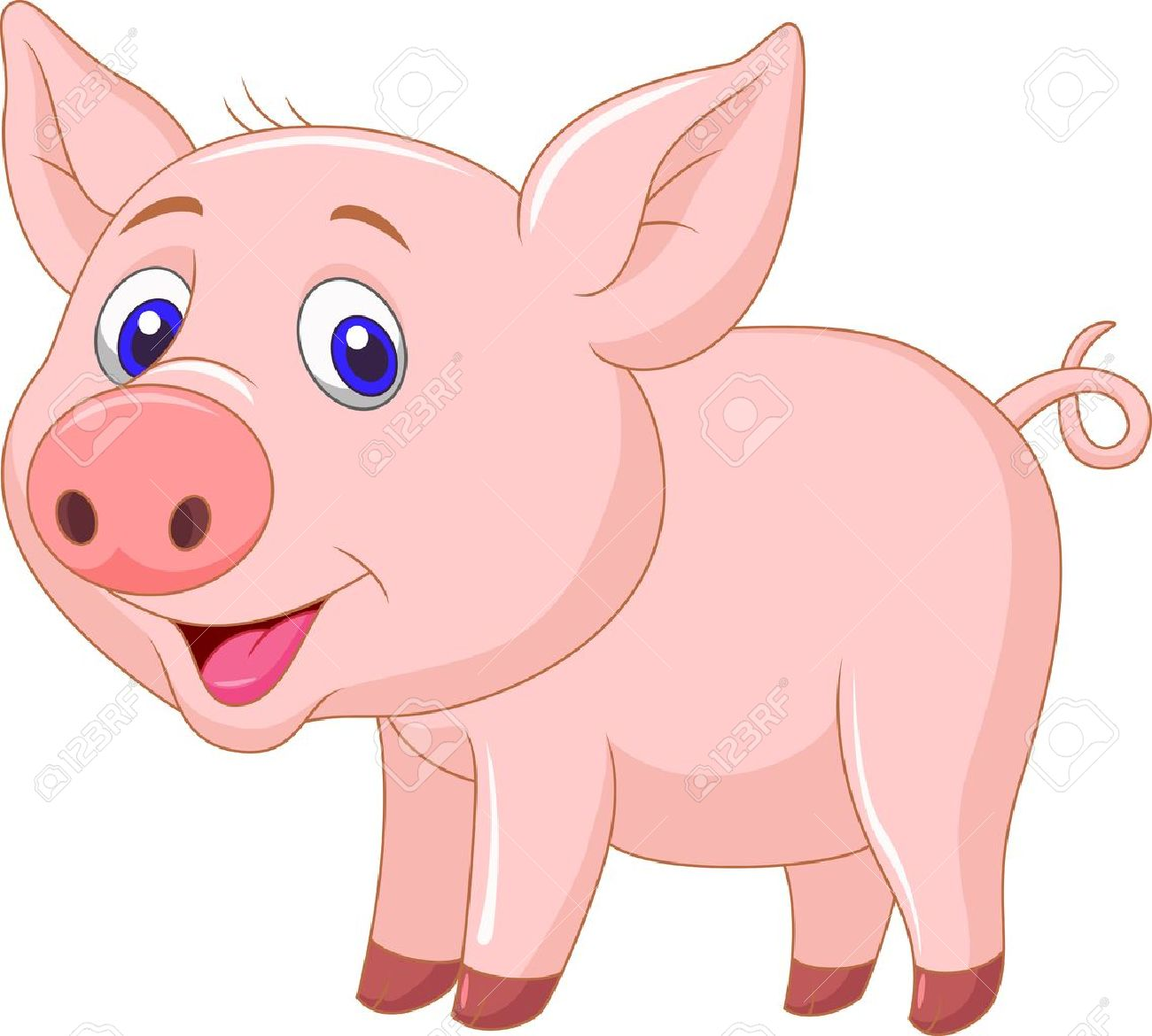Pig clip art simple. Clipart of cartoon pigs