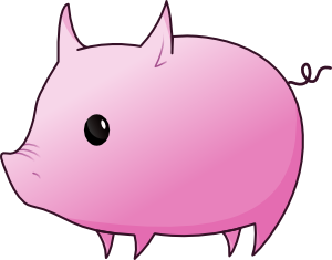 Pig clip art simple. Free that really flies