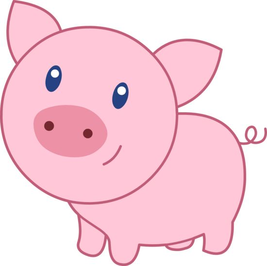 Pig clip art simple. Decoration clipart pigs cartoon