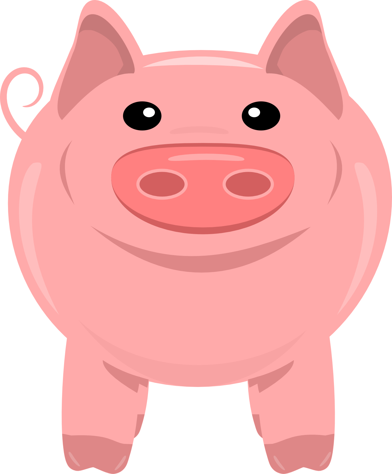 Pig clip art transparent background. Animal clipart pencil and