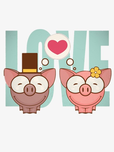 Couple clipart pig. Lovers cartoon png image