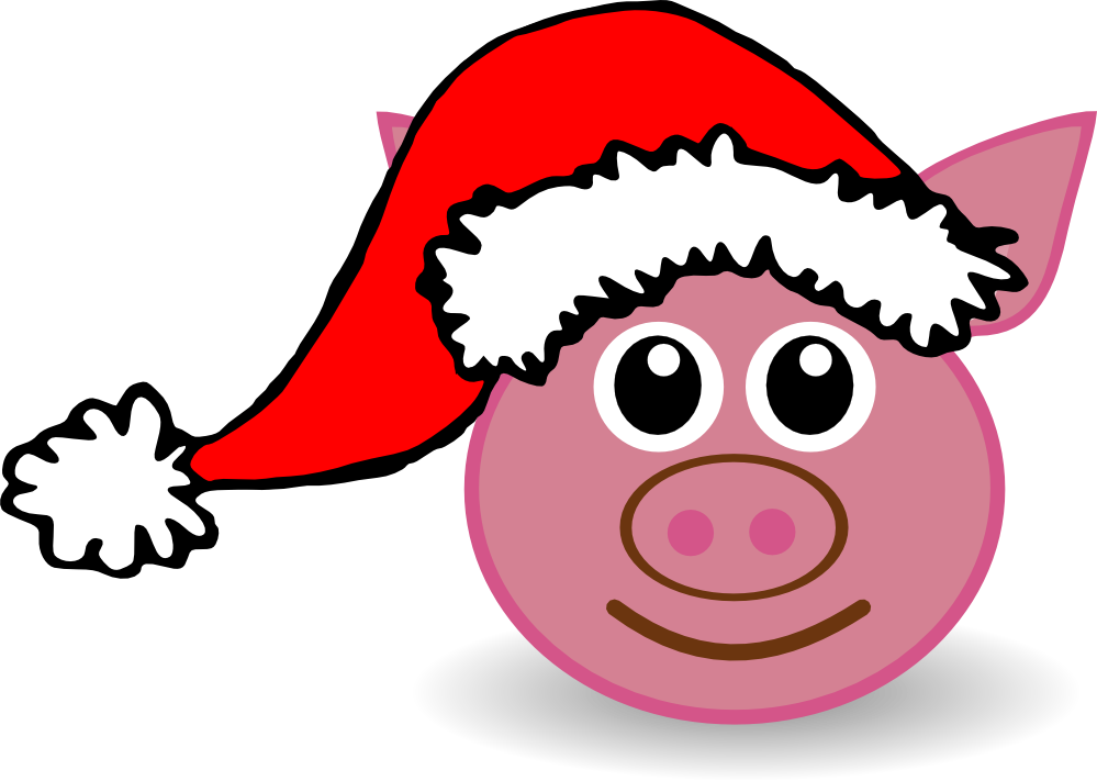 Vector santa gangster. Free pigs cartoon pictures