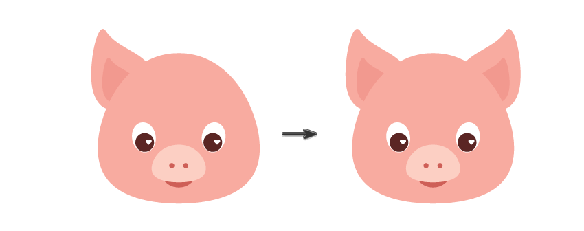 Pig ears png. How to create a