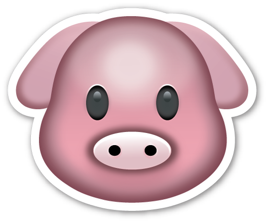 Pig emoji png. This sticker is the