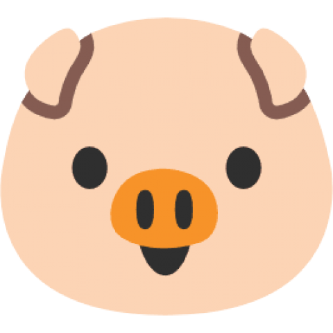 Pig emoji png. Download android face clipart