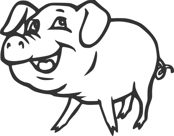 Pig outline png. Line drawing clip art
