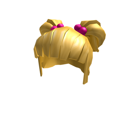 Pig tails png. Blonde pigtails with pink