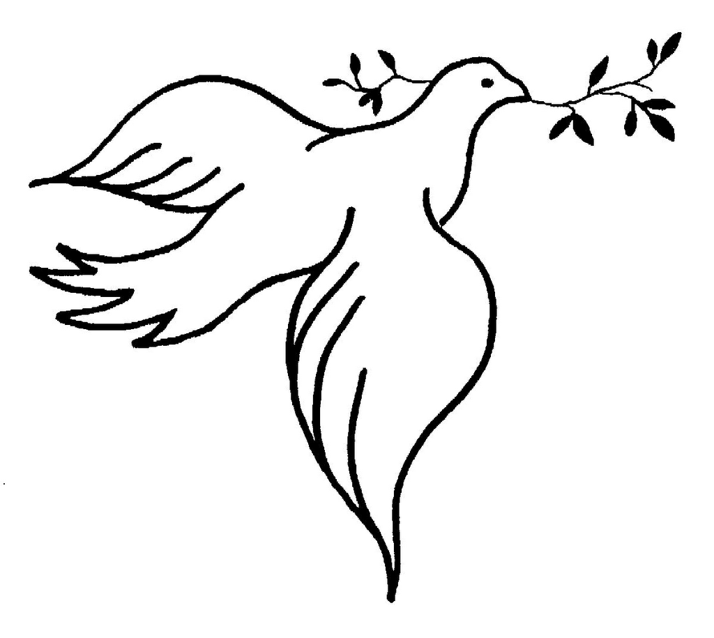 Pigeon clipart pigen. Peaceful pencil and in