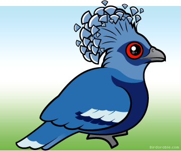 Pigeon clipart pigen. Victoria crowned clipground