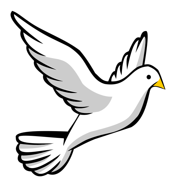 Vector doves funeral dove. Clipart panda free images