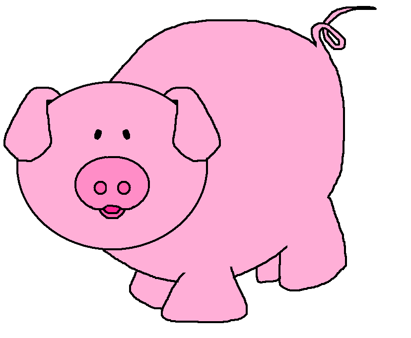Piggy clipart aniaml. Cute pig at getdrawings