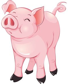 Pigs clipart dog. Free pig from www