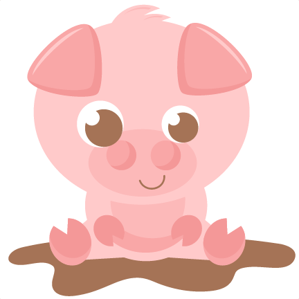 Piggy clipart svg. Pig scrapbook cut file