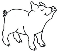 Pigs clipart simple. Cute black and white