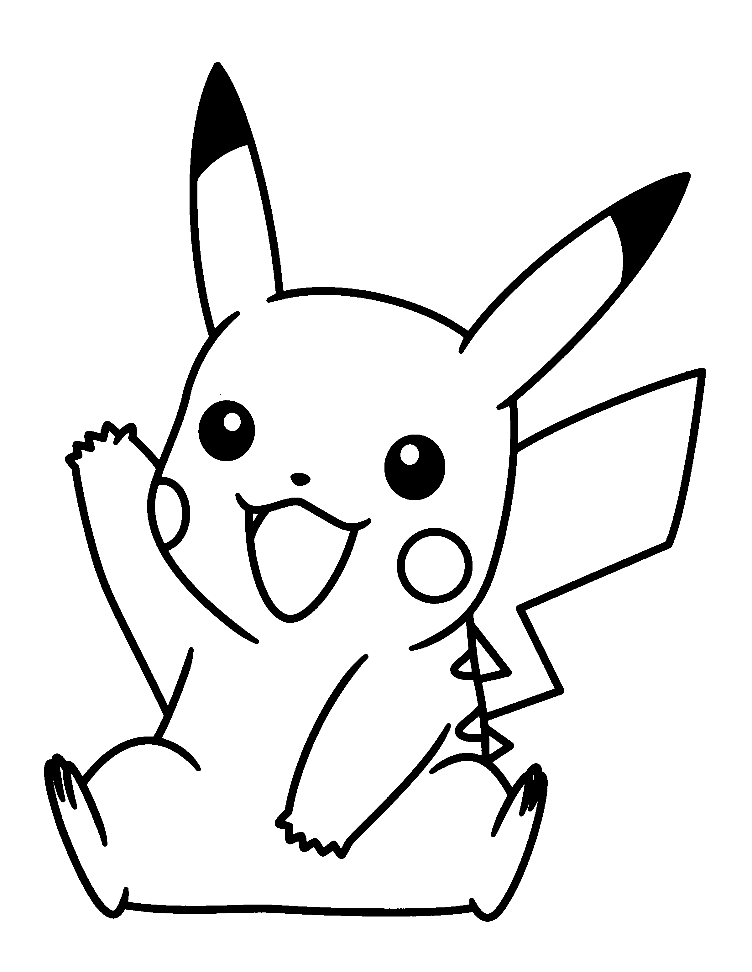 Pikachu clipart. Awesome collection digital coloring