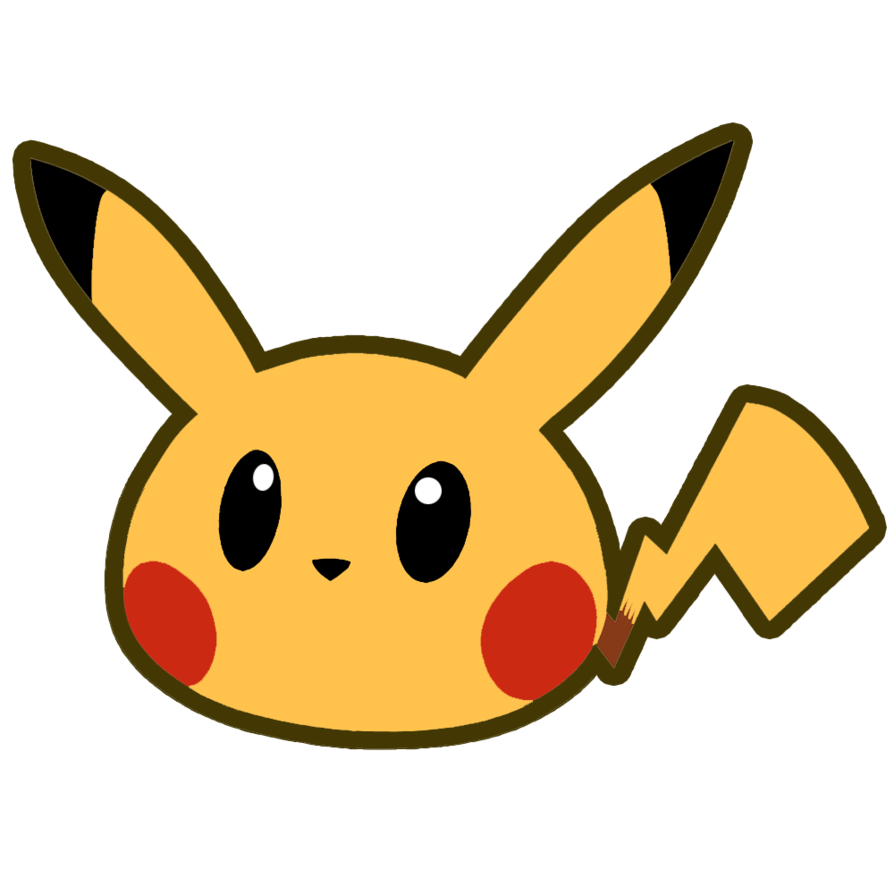 Pikachu head png. By twin gamer on