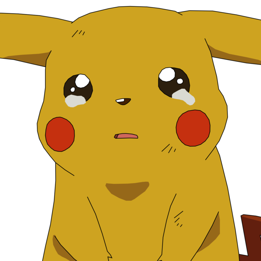 Sad pokemon png. Pikachu crying by athosiana