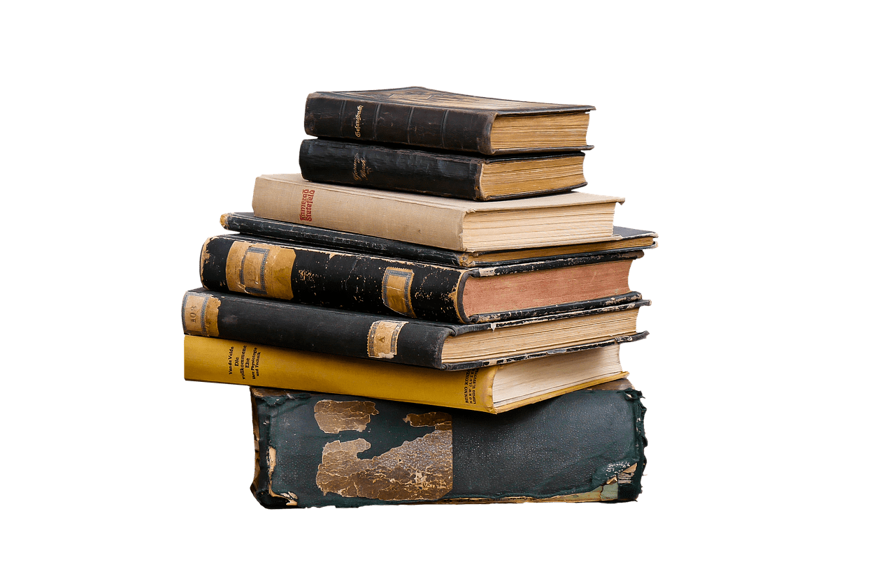 Pile of books png. Transparent stickpng